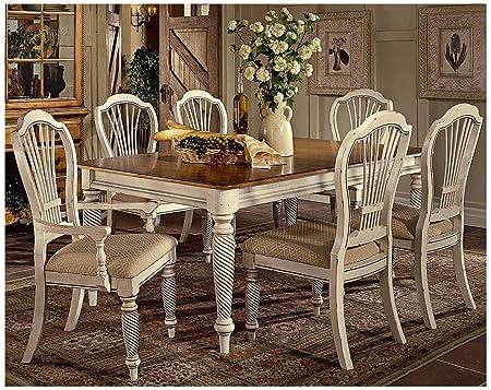 Awe Inspiring Hillsdale Wilshire 7 Piece Rectangular Dining Table Set In Beatyapartments Chair Design Images Beatyapartmentscom