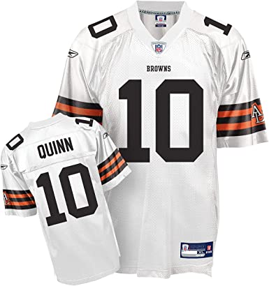 Amazon.com : Reebok Cleveland Browns Brady Quinn Replica White ...