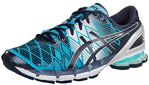 chaussures de séparation 055f1 65aca ASICS Men's Gel Kinsei 5 Running Shoe,Turquoise/Navy/White ...