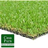 Gazon artificiel casa pura® Oxford | pelouse synthétique pour terrassse, balcon etc. | tailles au mètre | poids 1800g/m² - stabilisé UV selon DIN 53387 | 100x133cm
