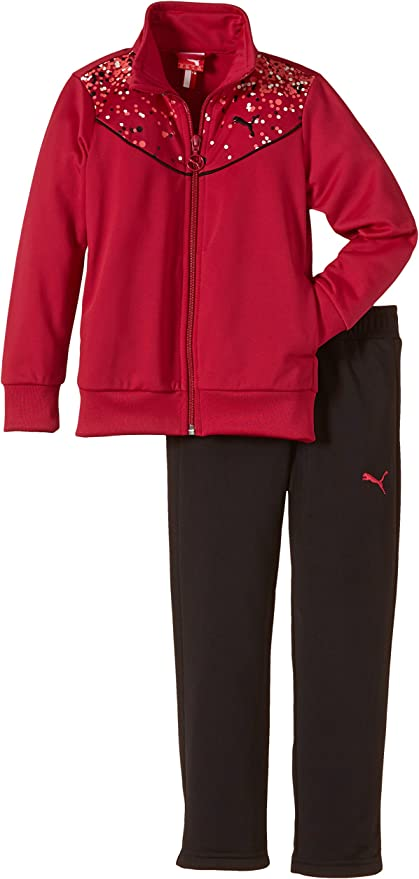 Puma Trainingsanzug Graphic Suit, Open - Chándal para niña, Color ...