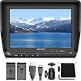 Neewer 7 inches 4K HD On-Camera Field Monitor with HDMI Input and Output Signals 10-Bit IPS Screen 1920X1200 High Resolution for Canon Nikon Sony Olympus Pentax Panasonic DSLR Camera Camcorder (NW-S7)