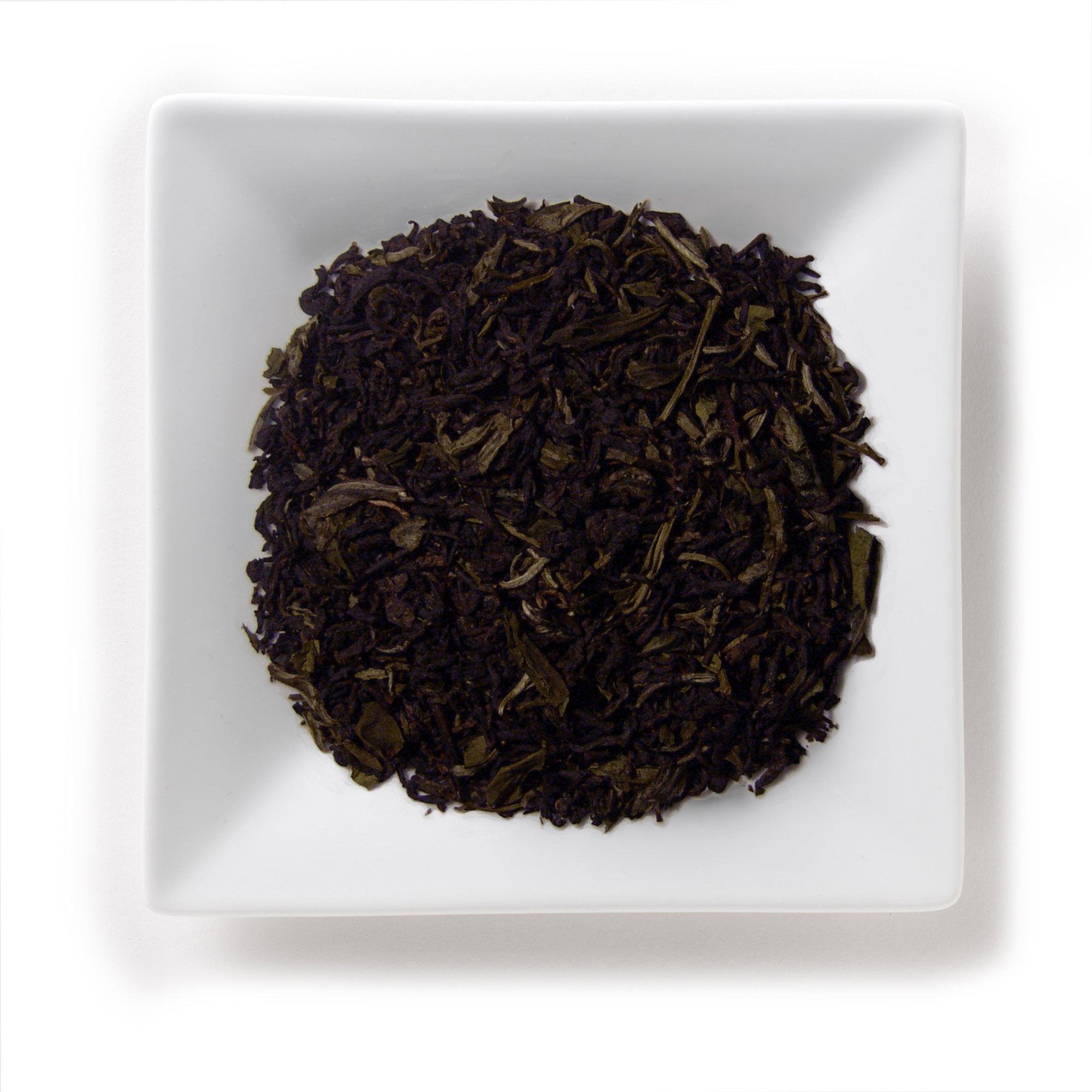 Mahamosa Earl Grey Pu-erh White Tea 2 oz (with pu-erh, bai mu dan white peony, bergamot) - Loose Leaf (Looseleaf) Earl Grey Black and White Tea Blend
