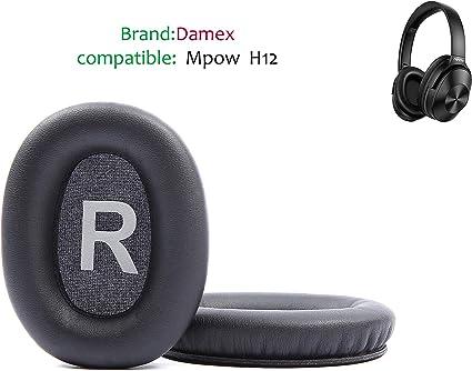 Black Damex Headphone Ear Pads Replacement Cushion for cowin E7、E7 PRO