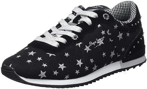 Pepe Jeans Sydney Stars Lame, Zapatillas para Niñas: Amazon.es: Zapatos y complementos