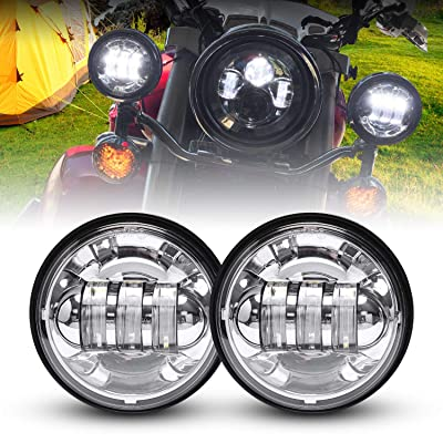 LX-LIGHT Dot approved 2 PCS Chrome 4.5 Inch Cree LED Passing Light LED Fog Lamps for Motorcycles Auxiliary Light Bulb Motorcycle Projector Driving Lamp: Automotive