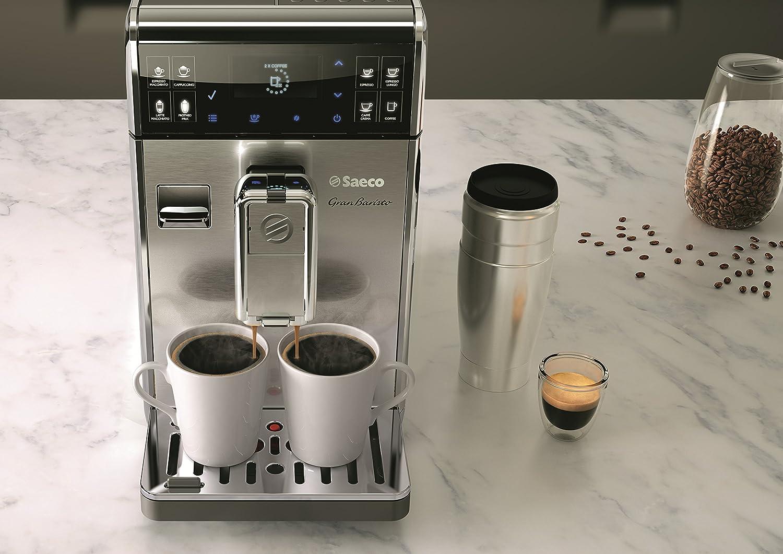 Saeco GranBaristo HD8975/01 - Cafetera (Independiente, Máquina espresso, 1,7 L, Molinillo integrado, 1900 W, Antracita, Acero inoxidable)