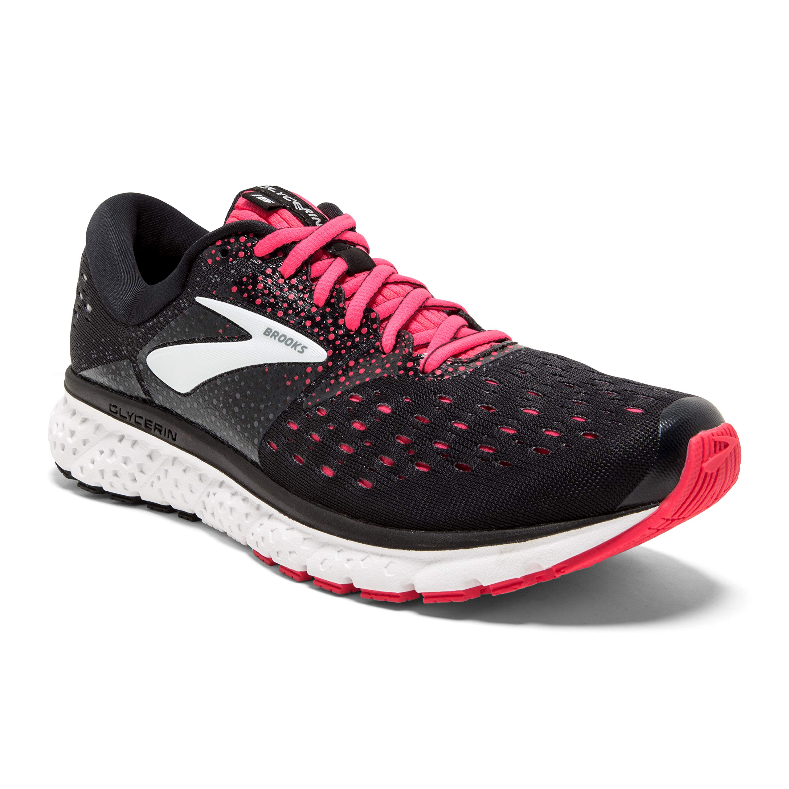 Brooks Womens Glycerin 16 - Black/Pink/Grey - B - 6.5 by Brooks