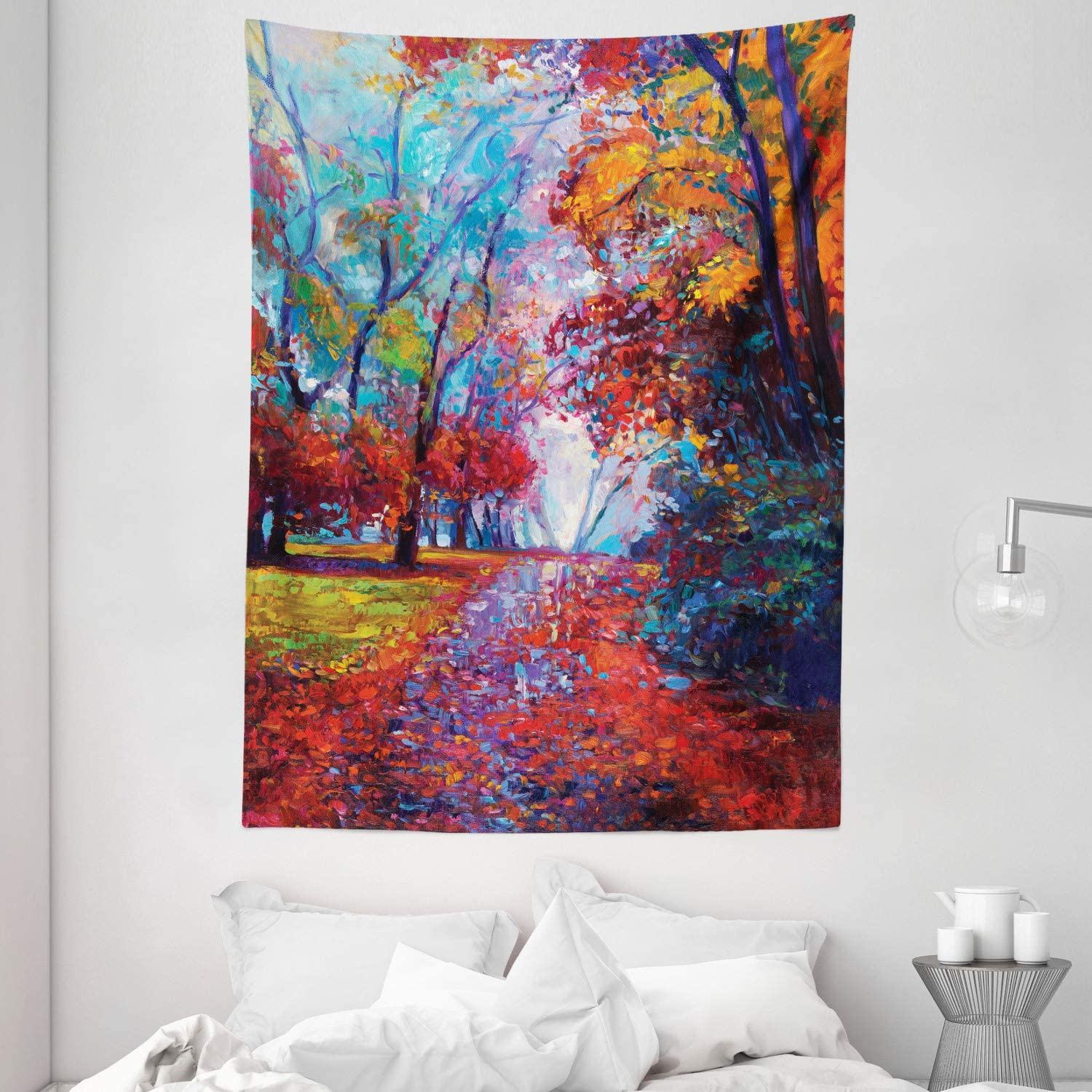 Amazon Com Ambesonne Country Tapestry Colorful Fairy Paint Of