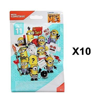 Despicable Me Mega Construx Minions 3 Series 11 Mini Figure Blind Bag Party Favours - Pack of 10: Toys & Games