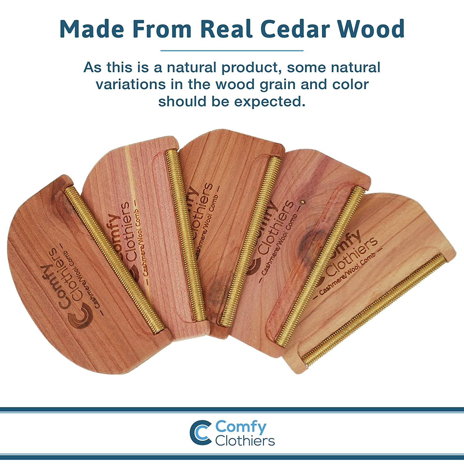 Comfy Clothiers Cedar Wood Cashmere & Fine Wool Comb for De-Pilling Sweaters & Clothing - Removes Pills, Fuzz and Lint from Garments: Amazon.com: Industrial ...