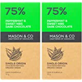 Mason & Co. 75% Dark Chocolate with Peppermint & Sweet Nibs, 70g (Pack Of 2)