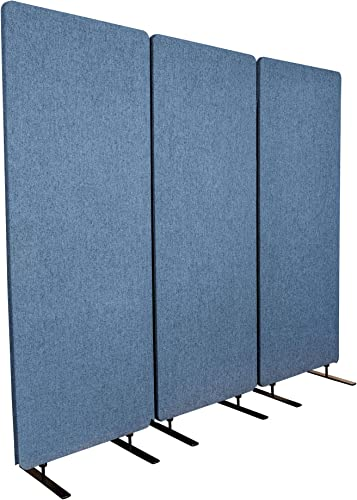 ReFocus Acoustic Room Dividers Office Partitions Reduce Noise and Visual Distractions with These Easy to Install Wall Dividers 72 X 66 , Steel Blue