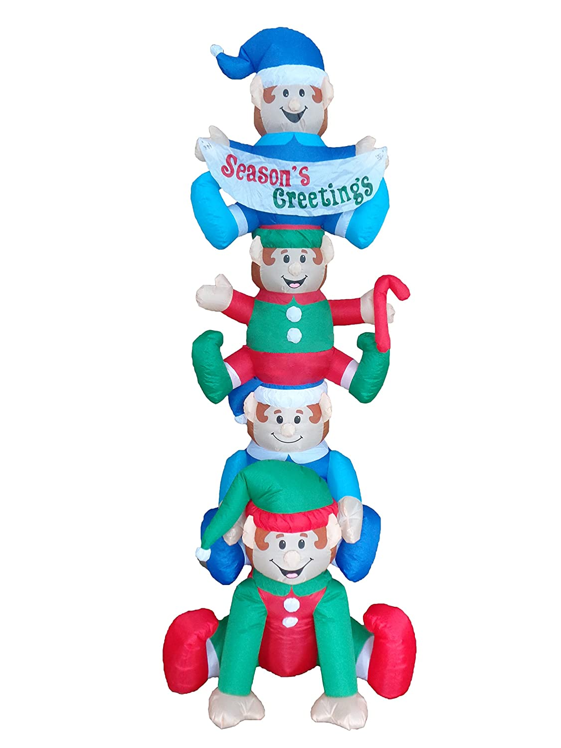 Amazon.com: BZB Goods 8 Foot Tall Christmas Inflatable Stacking ...