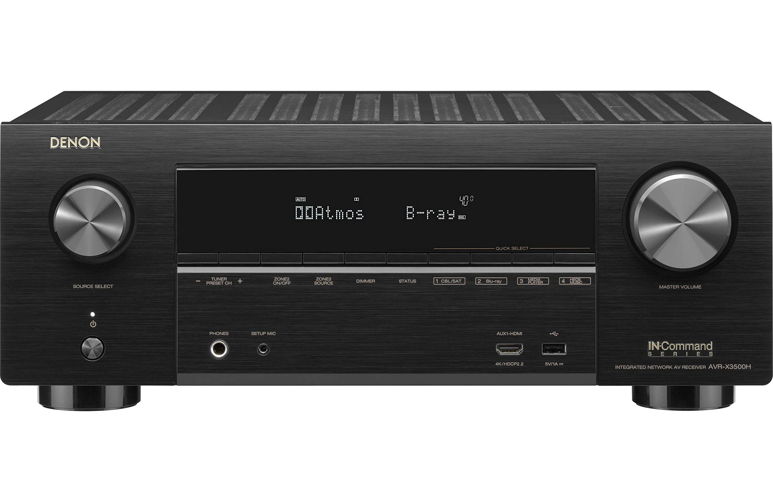 Denon AVR-X3500H Receiver (2018 Model) - 8 HDMI Input/3 Output & Enhanced Audio Return Channel (eARC), HDR10, 3D Video Support | Super High Power, 7.2 Channel 4K Ultra HD Video | Dolby Surround Sound by Denon (Image #1)
