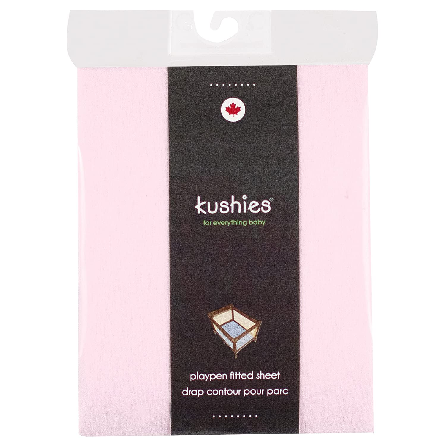 Kushies Pack N Play Playard Sheet, Soft 100% breathable cotton flannel, Made in Canada, Natural S345-NAT
