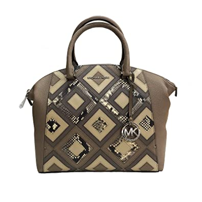 71f69b4c1623 Michael Kors Riley Large Satchel Bag Leather DK Taupe (35S8SRLS3E)   Amazon.co.uk  Shoes   Bags