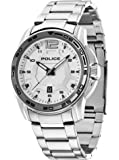 Police Victory Men's Quartz Watch with Silver Dial Analogue Display and Silver Stainless Steel Bracelet 13935JS/04M
