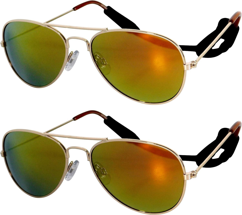 JN202 Kids Toddler Child Age 3-6 Years Aviator Metal Sunglasses