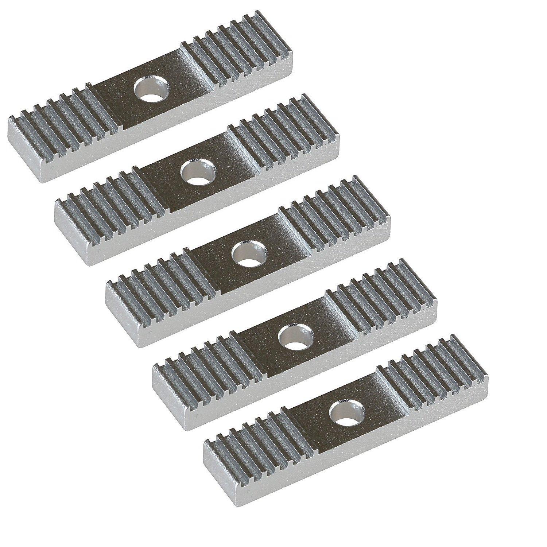 LEZHI 5pcs 2GT Timing Belt Aluminum Gear Clamp Mount Block Pack