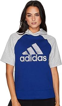 adidas Womens Athletics Fashion Short Sleeve Hoody