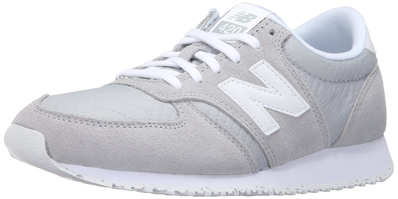 New Balance Women's 420 Prep Pack Lifestyle Sneaker 37 EU Silver Mink/White