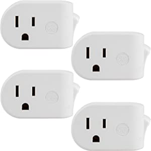 UltraPro GE Grounded On/Off Power Switch, 4 Pack, Plug-in, Energy Efficient, Space Saving Design, White, 46844