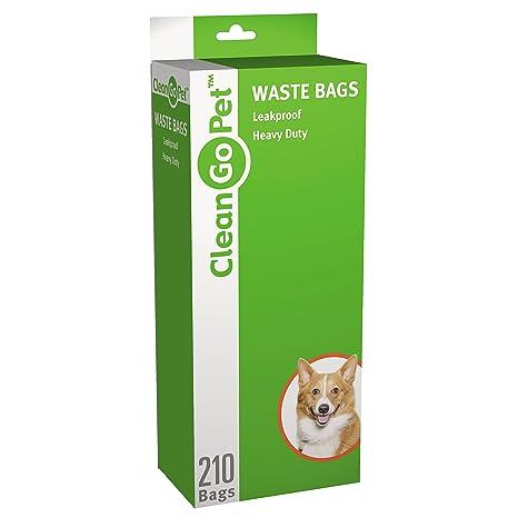Clean Go Mascota Heavy Doody Perro Bolsas de Basura, 21-Pack ...
