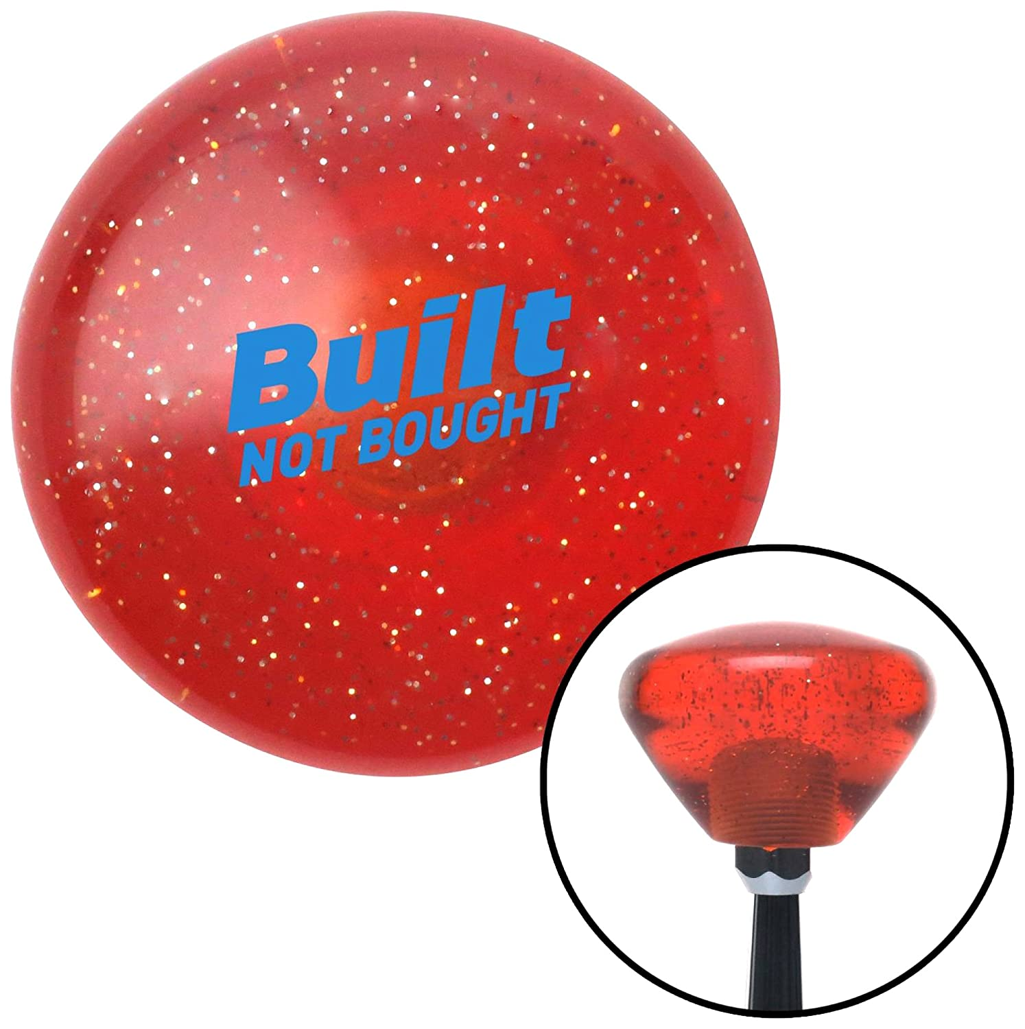 American Shifter 327704 Blue Built Not Bought Simple Orange Retro Metal Flake Shift Knob with M16 x 1.5 Insert