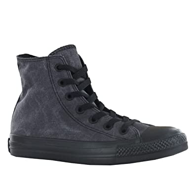 aa36fb7698e3f8 Converse Mens All Star Basic Vintage Hi Jet Black Hi Top Trainers 3   Amazon.co.uk  Shoes   Bags