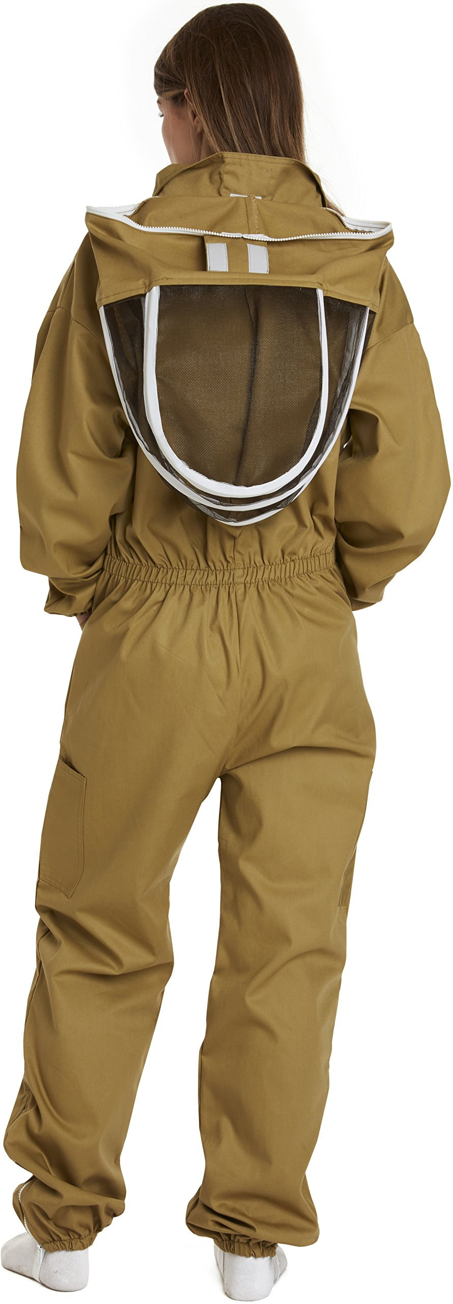 NATURAL APIARY - Apiarist Beekeeping Suit - Khaki - (All-in-One) - Fencing Veil - Total Protection for Professional & Beginner Beekeepers - X Large by Natural Apiary (Image #6)