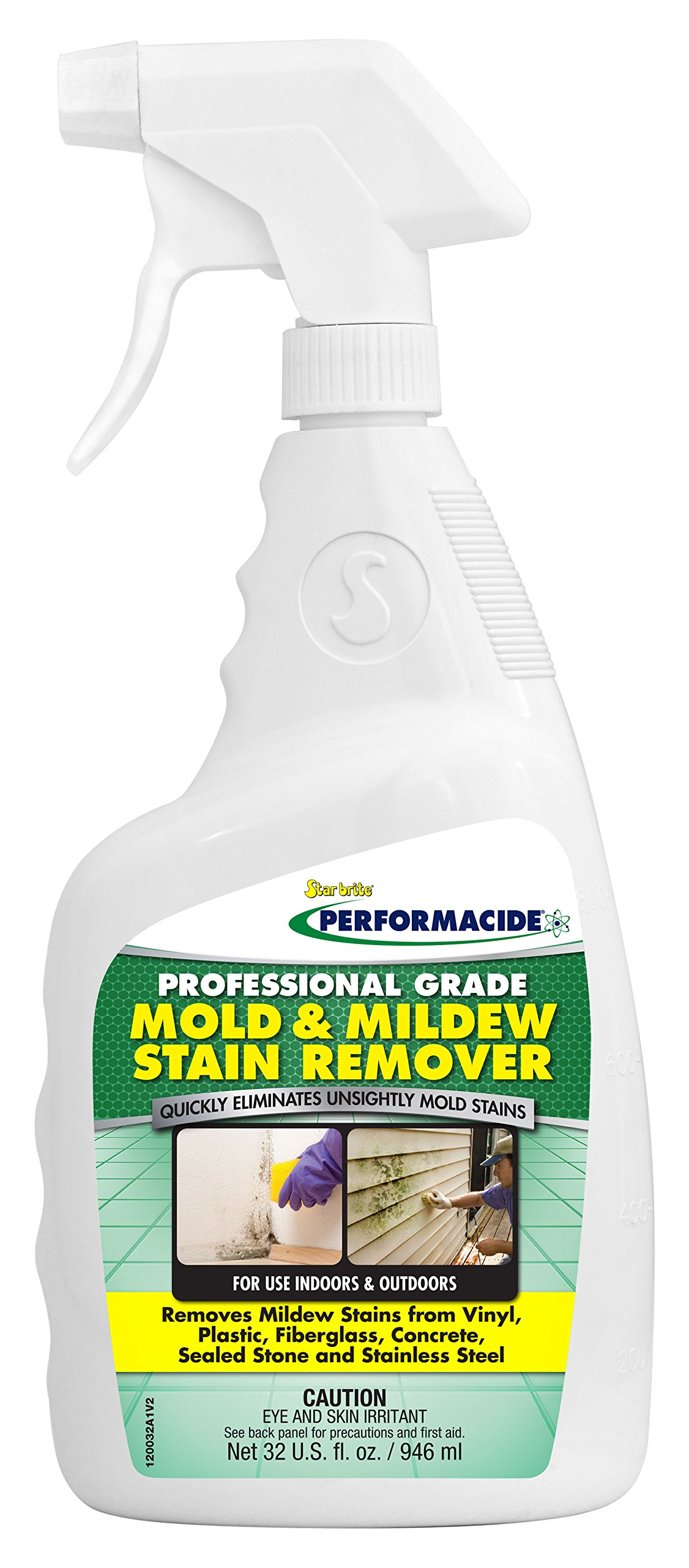 Performacide Mold & Mildew Stain Remover - Professional Grade, 32 oz Sprayer
