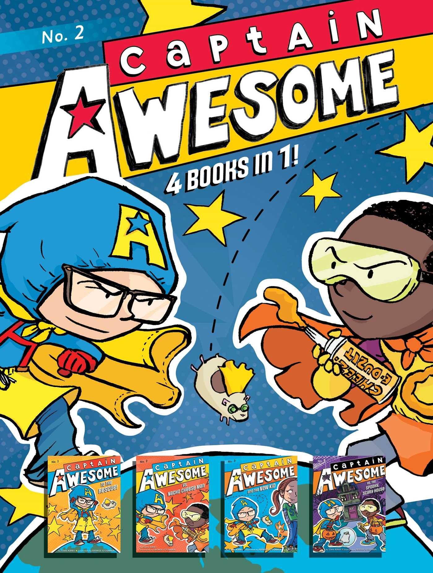 Captain Awesome 4 Books in 1! No. 2: Captain Awesome to the Rescue, Captain Awesome vs. Nacho Cheese Man, Captain Awesome and the New Kid, Captain Awesome vs. the Spooky, Scary House by Little Simon