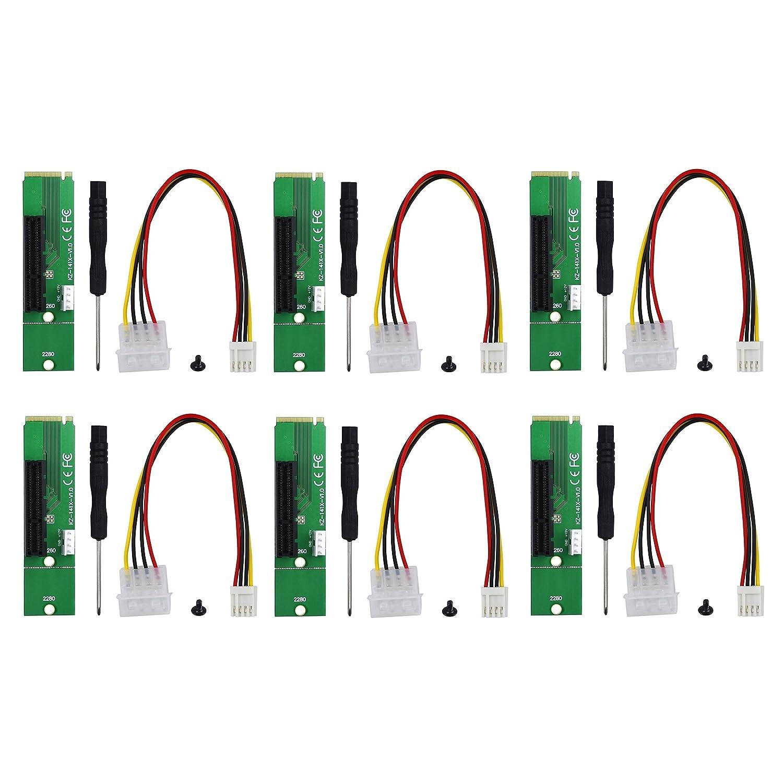 NGFF M2 M-key to PCI-E 4x 1x Slot Riser Card Adapter Male Female PCIE Multiplier