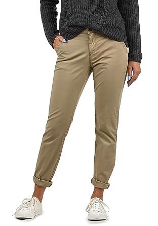 167f4ba4499a0a BlendShe Chilli Damen Chino Hose Stoffhose Regular-Fit, Größe:XS, Farbe: