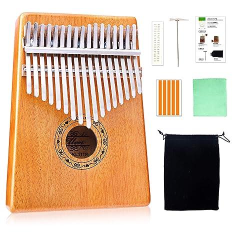 Amazon Kalimba 17 Key Thumb Piano Finger Mbira Tone
