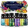 Aceites Esenciales, 6 * 10 ml Aceite Aromaterapia 100% Natural Puro (Lavanda, Árbol de Té, Lavanda, Llimoncillo, Menta, Naranja Dulce, Eucalipto) para Humidificador y Difusor