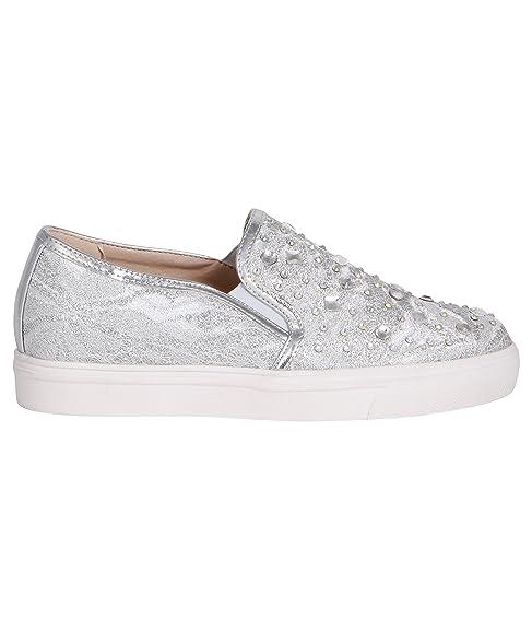 Zapatillas Brillantes Plateadas[Plateado/Blanco,39]: Amazon.es: Zapatos y complementos