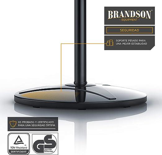 Brandson - 40cm Ventilador de pie - Oscilación Aprox. 85 Grado - 3 Niveles de Potencia - 50 W - Flujo de Aire Elevado - Negro