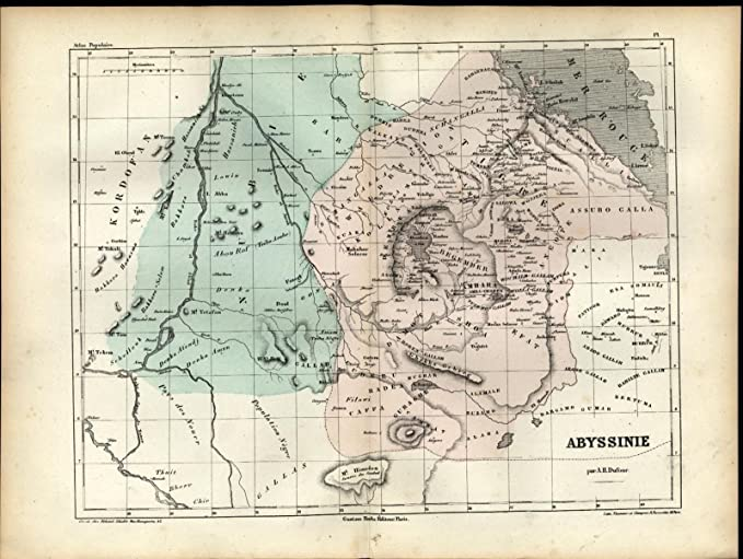 Amazon Com Abyssinia East Africa Khartoum Nile River C 1860 Antique