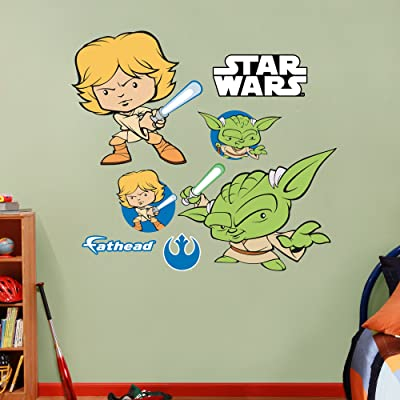 Luke Skywalker & Yoda POP wall decals