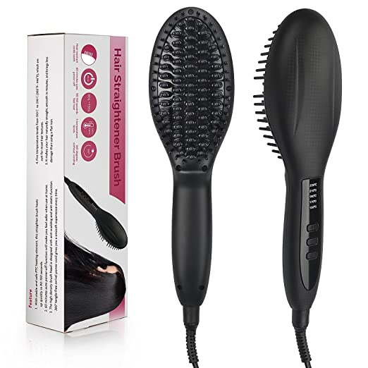 Hair Straightener Brush Only $...