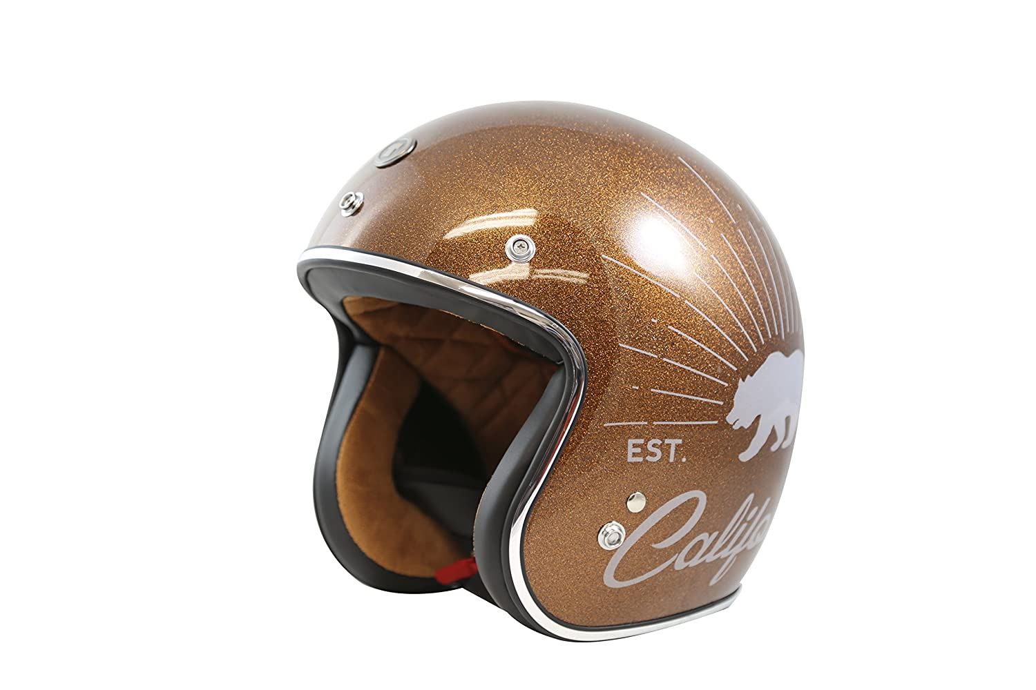 Rootbeer Sparkle, Medium TORC T50 Route 66 Grizzly Open Face Helmet with Graphics
