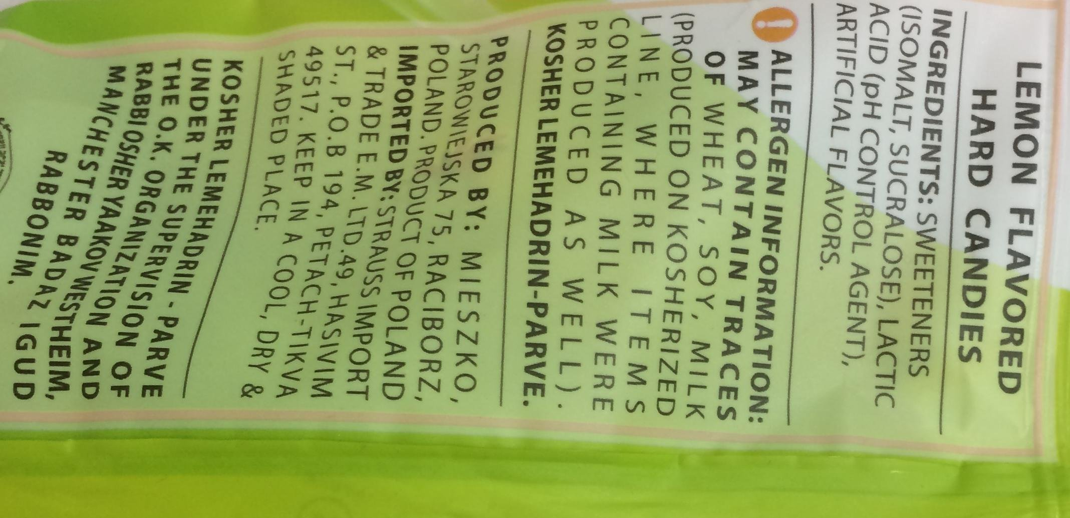 Elite Must Sugar Free Reduced Calorie Lemon Flavored 2.82 Oz. Pk Of 6.