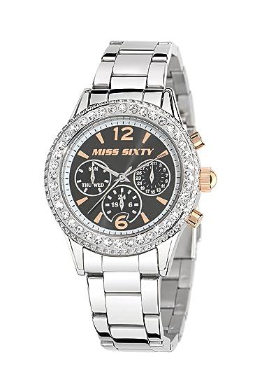 Miss Sixty R0753103501 - Reloj analógico de cuarzo para mujer, correa de acero inoxidable color plateado: Amazon.es: Relojes