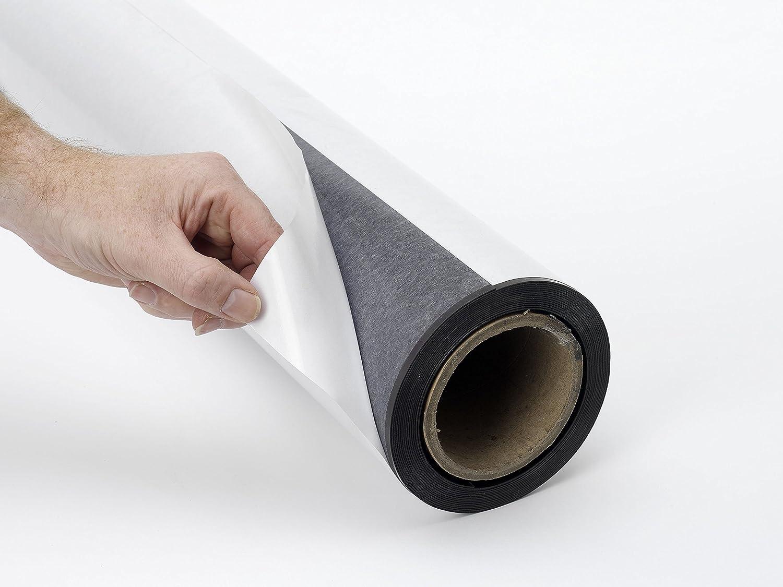 Supa-mag Selbstklebende Rückseite Ferro Blatt – 1 mtr, Farbe  Grau Braun, Größe  620 mm x 1 m 620mm x 15m grau