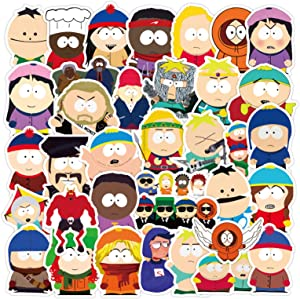 South Park Stickers Laptop and Water Bottle Decal Waterproof Vinyl Stickers for Teens, Girls, Women Skateboard Motorcycle Bicycle Mobile Phone Luggage Guitar DIY Decal (South Park)