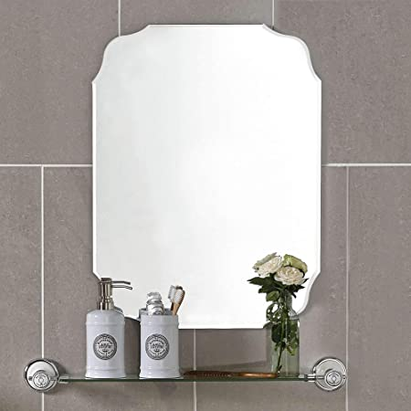 MX.home Wall Silver Backed Mirrored Glass Panel Best for Vanity, Bedroom, or Bathroom 18 x 24 , Sliver