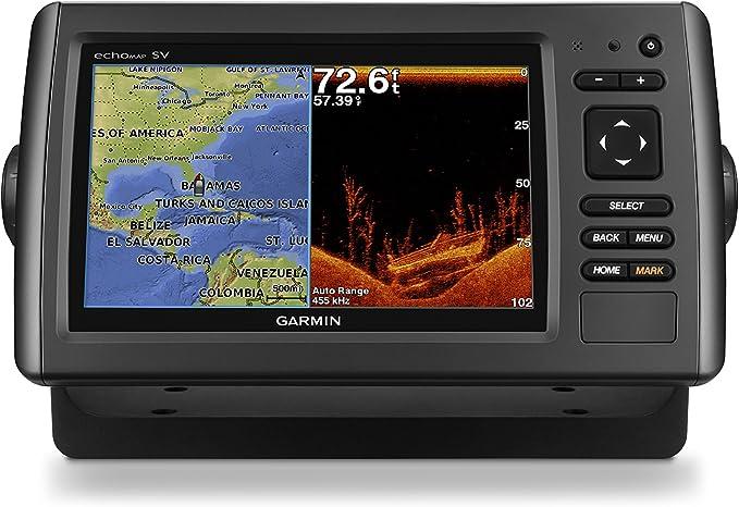 Garmin 010-01574-01 - GPS echoMAP Chirp 72sv WW Sonar con xdcr ...