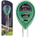 Premium 3-in-1 Soil Tester Meter (Moisture, pH & Light) With Bonus Garden Plant Tags ✶ Suitable For Houseplants, Outdoor Plants, Bonsais, Succulents, Trees, Grass and Lawn